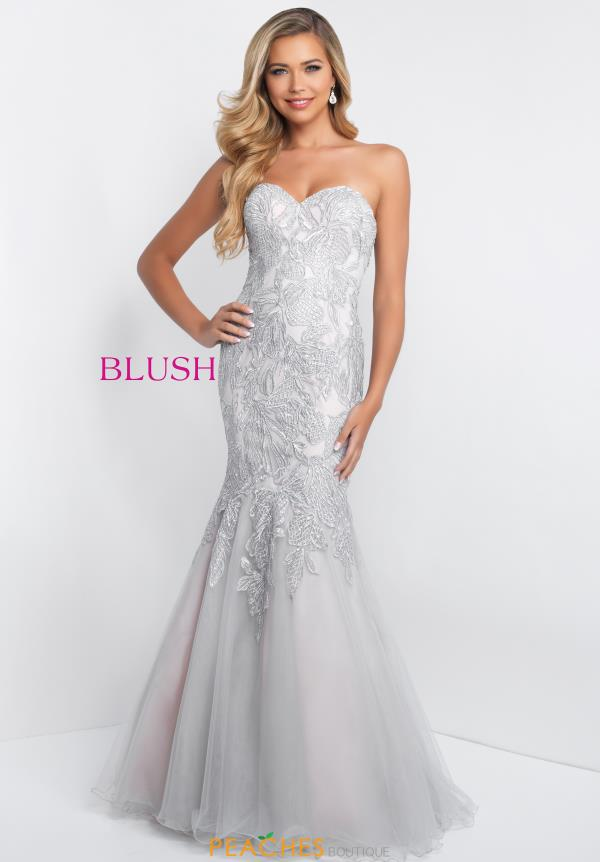 Blush Beaded Long Dress C1068