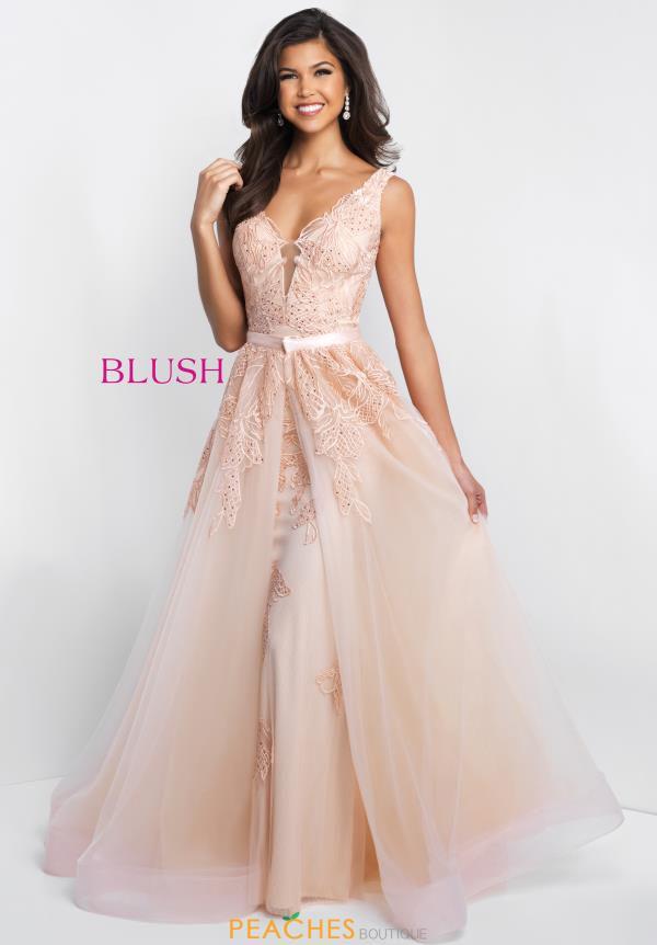 Blush Long Fitted Dress C1070