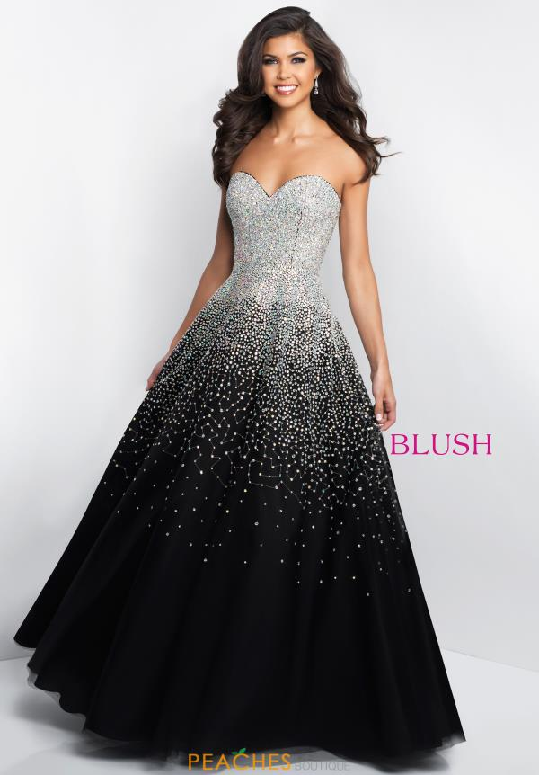 Blush Strapless Beaded Dress C1075