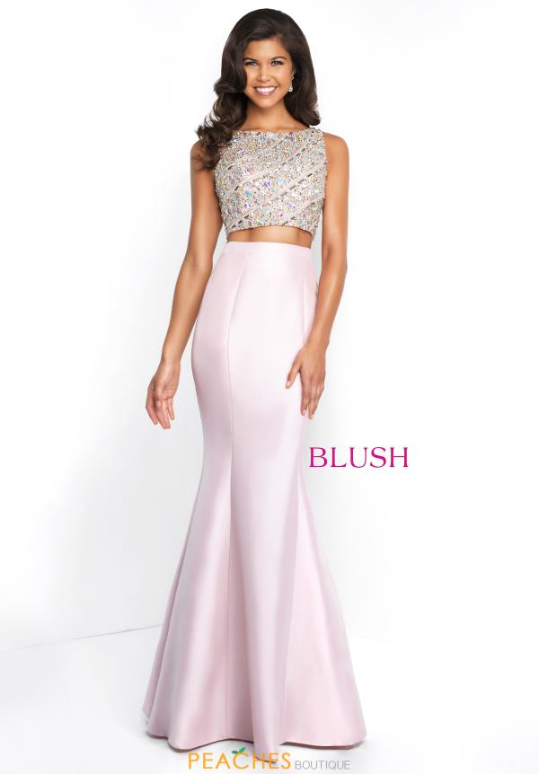 Blush Two Piece Beaded Dress C1079