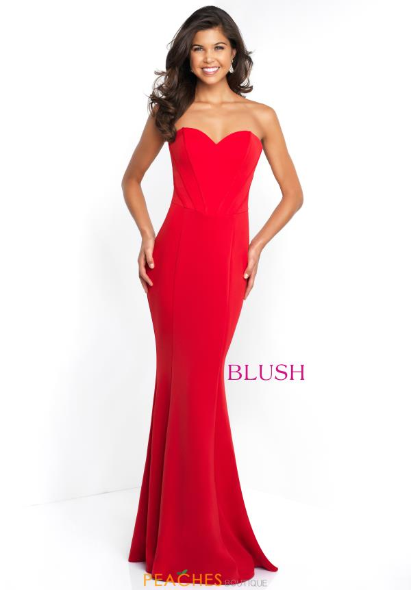 Blush Strapless Fitted Dress C1082