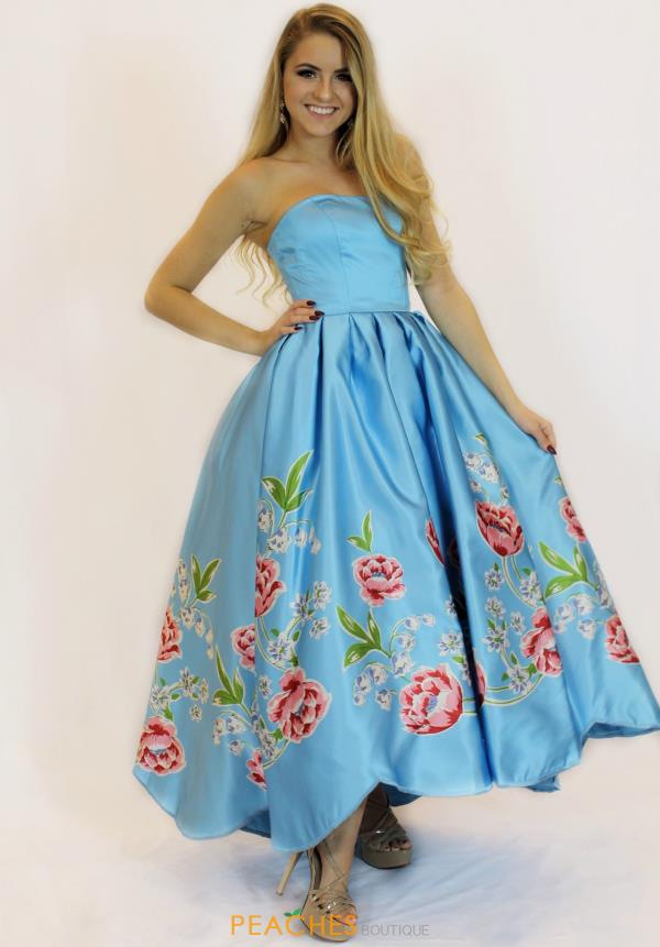 Strapless A Line Sherri Hill Dress 51139