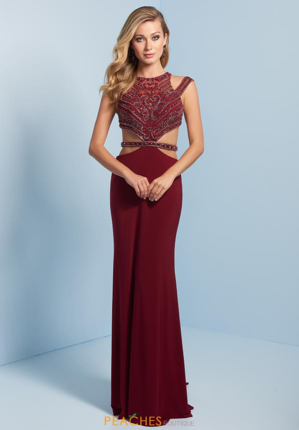 Splash Long Beaded Dress J704