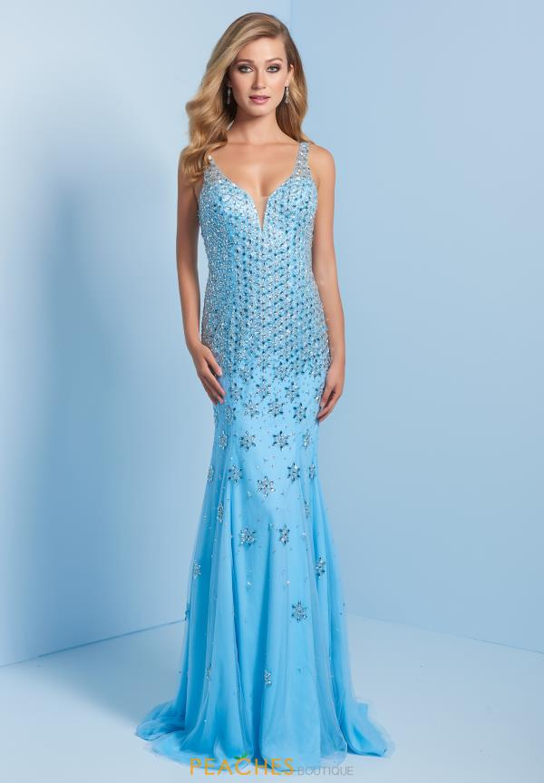 Splash Beaded Long Dress J743