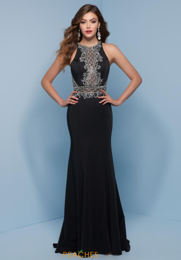 Splash High Neckline Beaded Dress J841