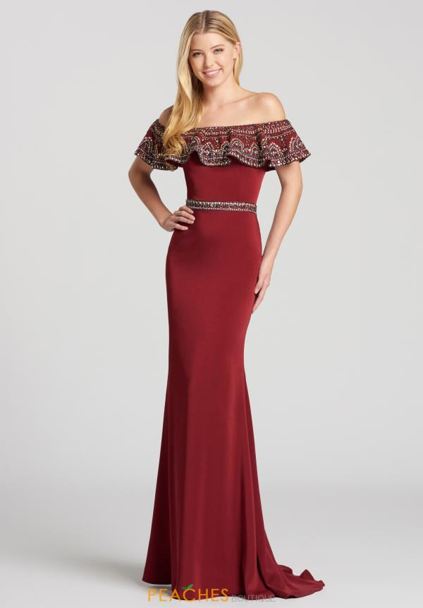 Ellie Wilde Off the Shoulder Dress EW118055