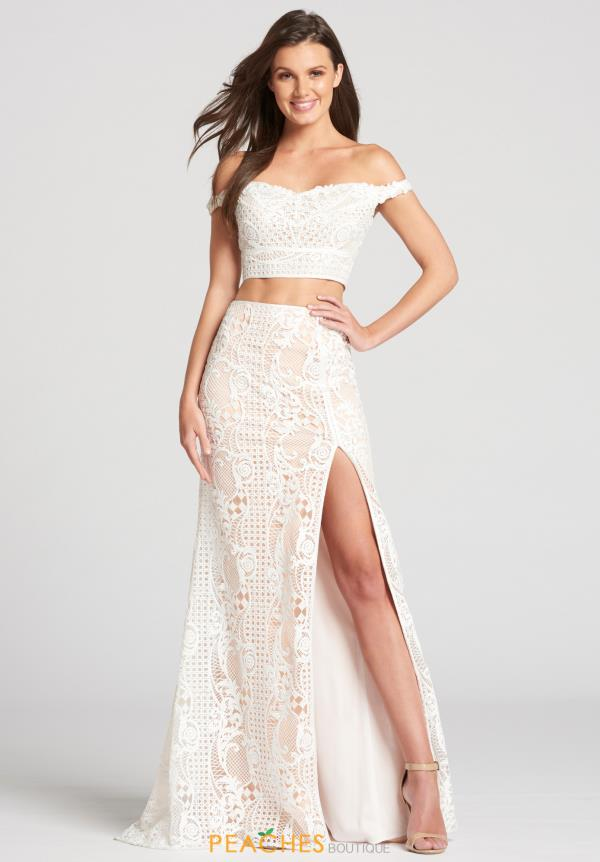 Ellie Wilde Off the Shoulder Lace Dress EW118059