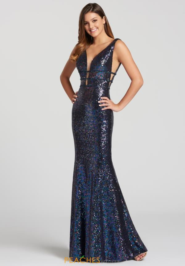 Ellie Wilde V-Neck Sequins Dress EW118096