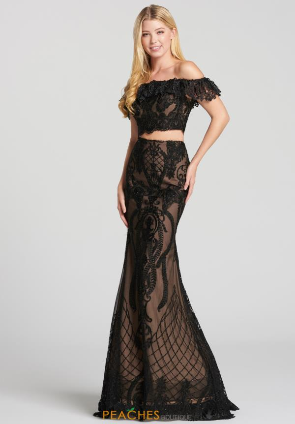 Ellie Wilde Fitted Lace Dress EW118156