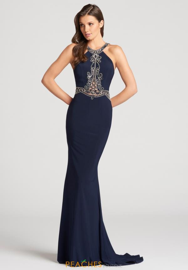 Ellie Wilde Fitted Beaded Dress EW118175