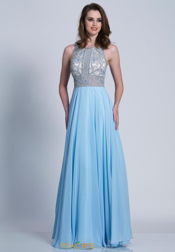 Dave and Johnny Long Blue Dress 3269