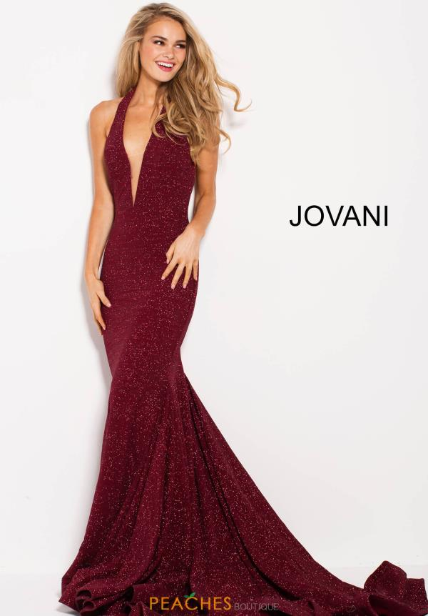 Jovani Open Back Fitted Dress 55414