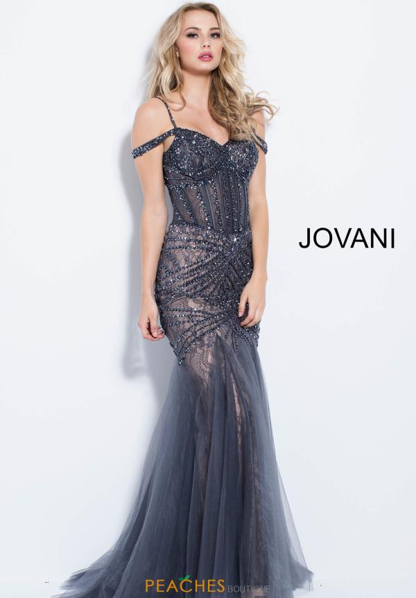 Jovani Beaded Fitted Dress 55876