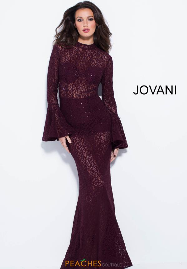 Jovani Long Sleeve Fitted Dress 58375
