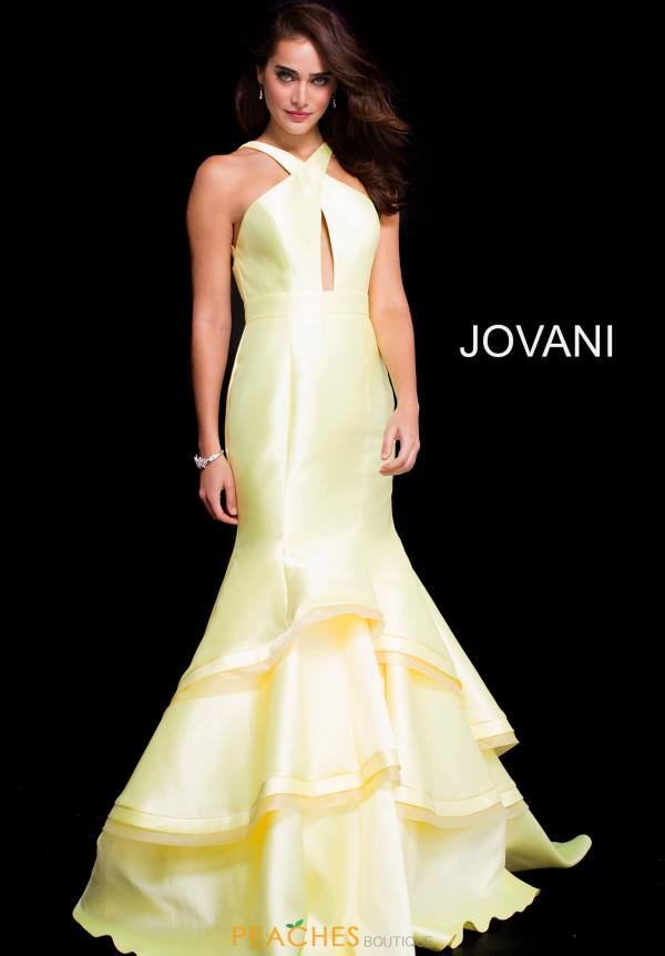 Jovani Open Back Halter Dress 58596