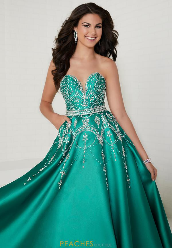 Tiffany Sweetheart Beaded Dress 16266