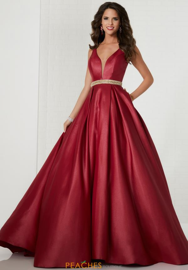 Tiffany A Line Satin Dress 46123