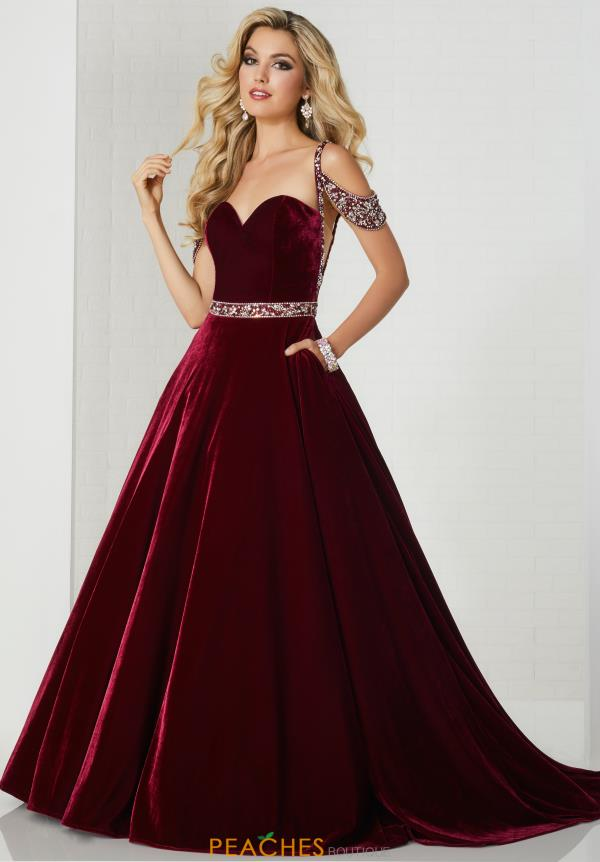 Tiffany Beaded Velvet Dress 46146