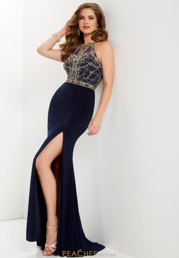 Studio 17 Beaded Long Dress 12689