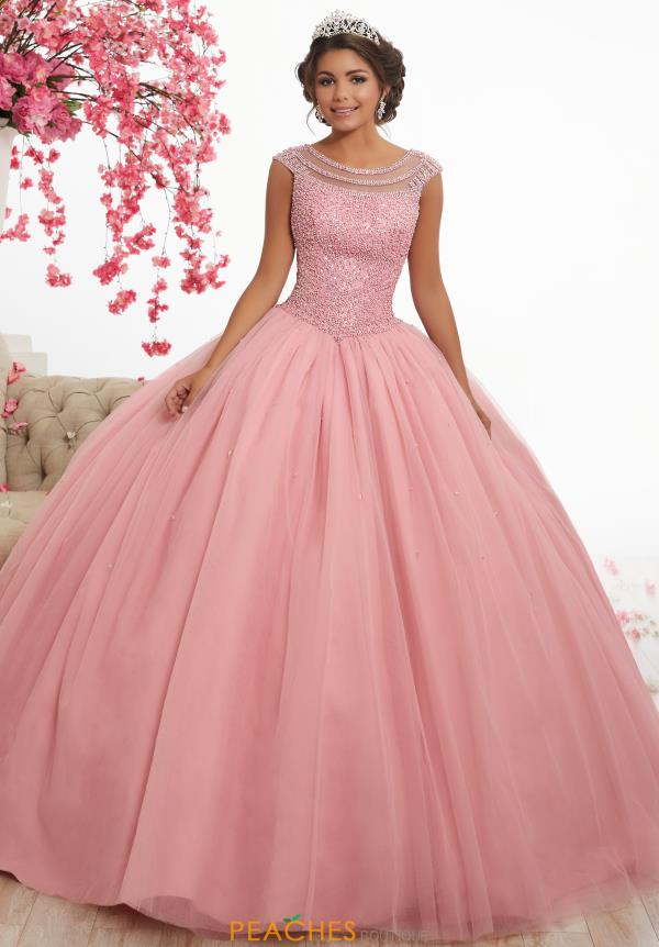 Tiffany Quinceanera Beaded Cap Sleeve Ball Gown 56340