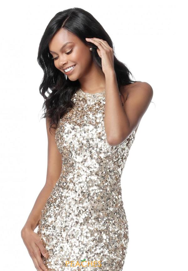 Sherri Hill Short Sexy Back Beaded Dress 51431