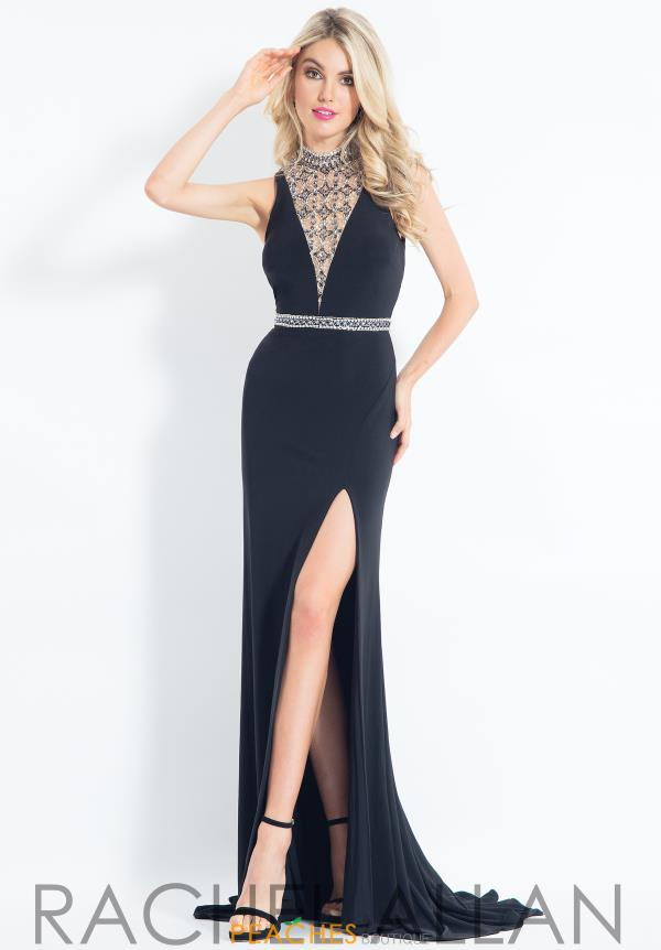 Rachel Allan Open Back Jersey Dress 6016