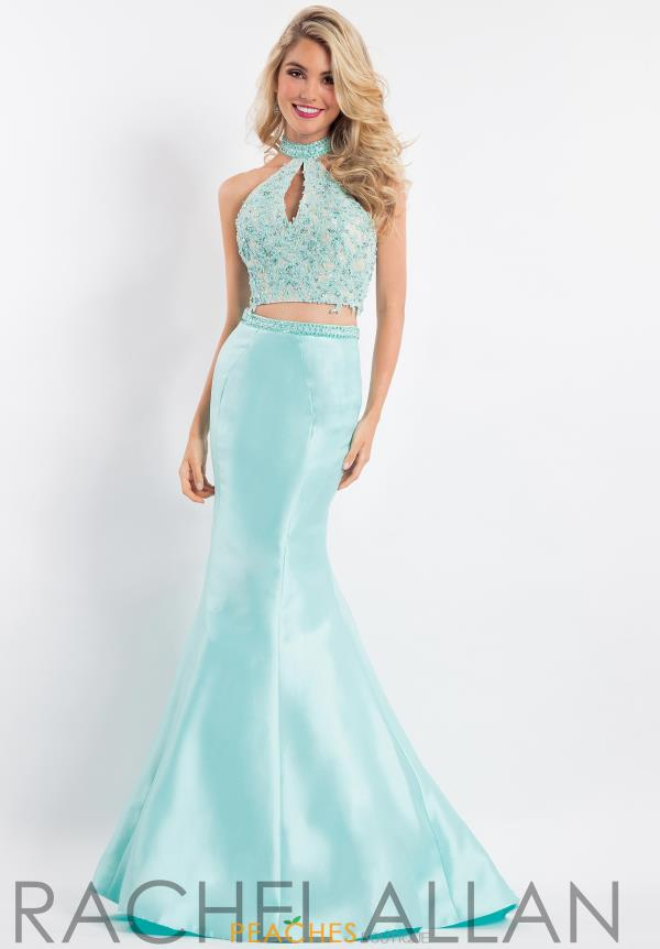 Rachel Allan Two Piece Beaded Dress 6031