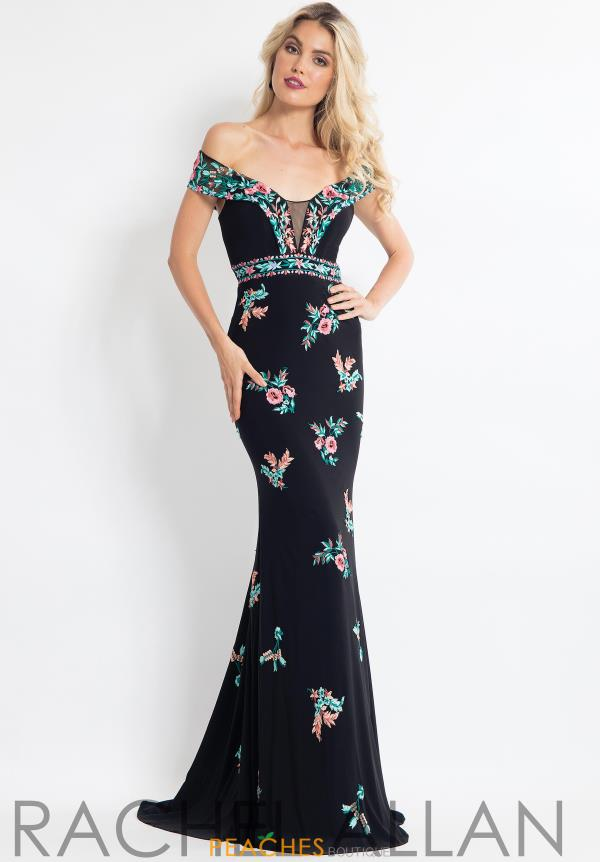 Rachel Allan Jersey Fitted Dress 6056