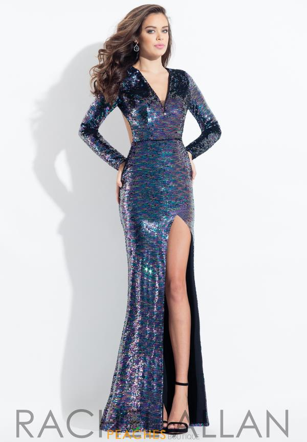 Rachel Allan Cap Sleeve Sequins Dress 6082