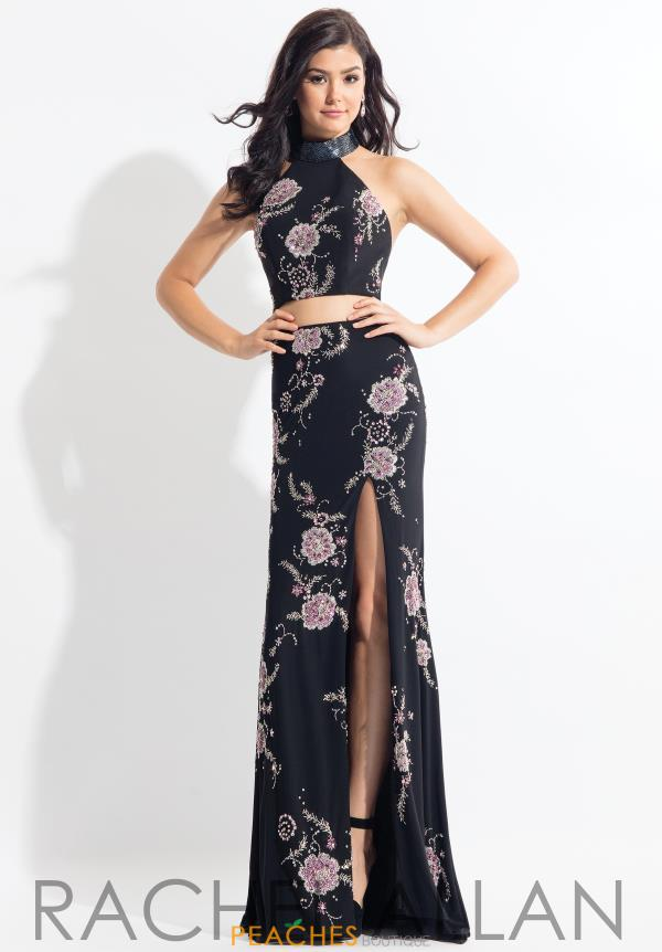 Rachel Allan Two Piece Beaded Dress 6086