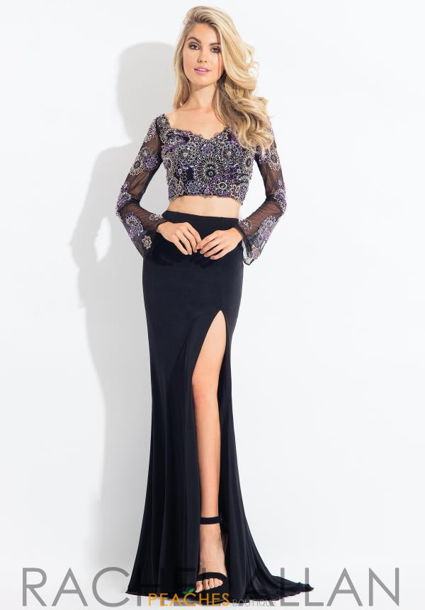 Rachel Allan Long Sleeve Beaded Dress 6116