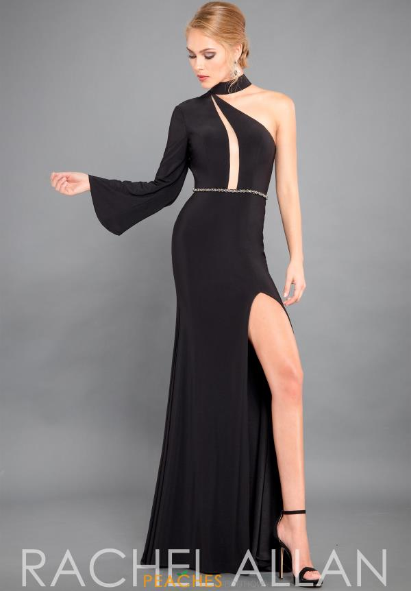 Rachel Allan Couture One Shoulder Jersey Dress 8313