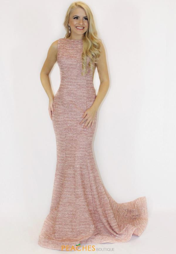 Jovani Long Jersey Dress 45830
