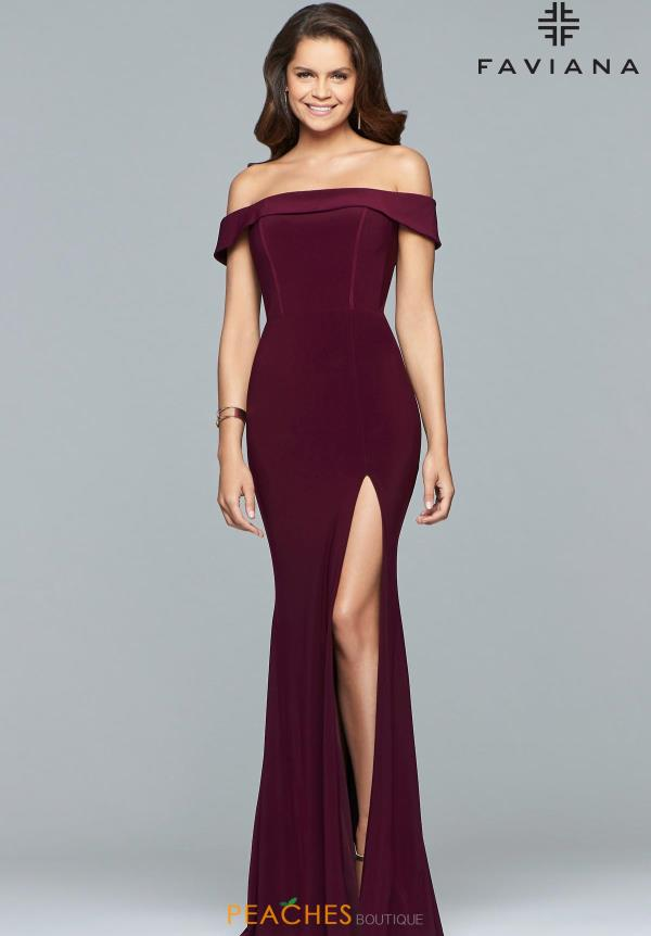 Faviana Off the Shoulder Dress S10015