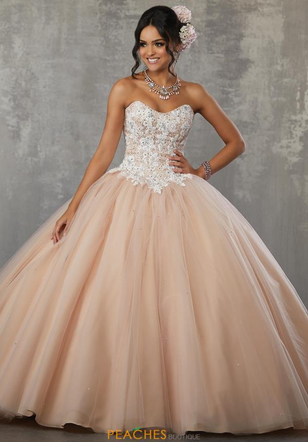 Vizcaya Beaded Quinceanera Ball Gown 6003