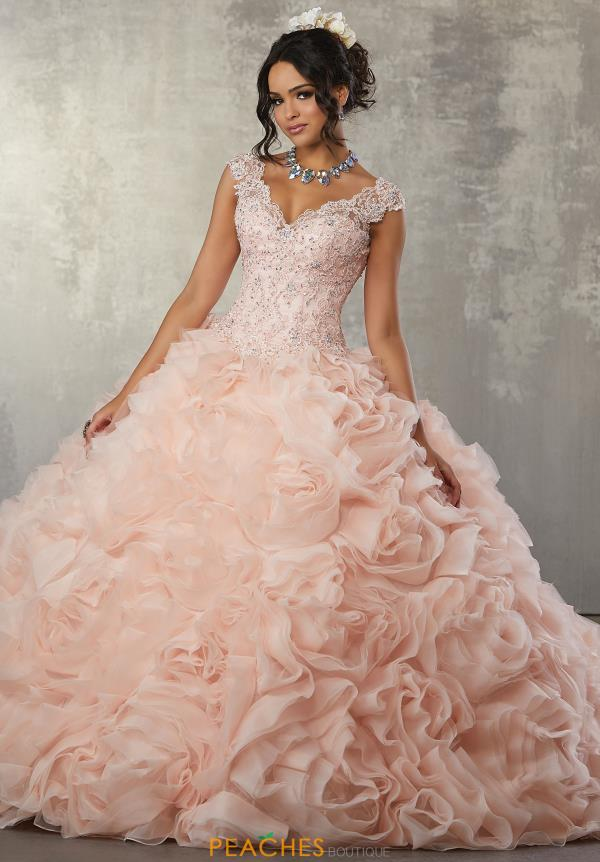 Vizcaya Quinceanera Rosette Skirt Ball Gown 89165
