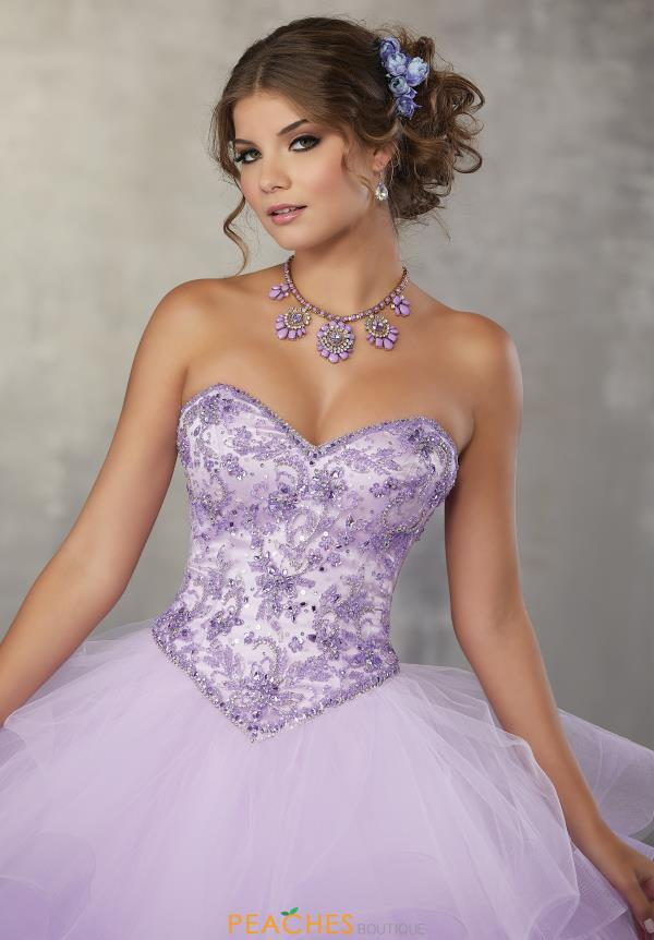 Vizcaya Quinceanera Strapless Beaded Gown 89166