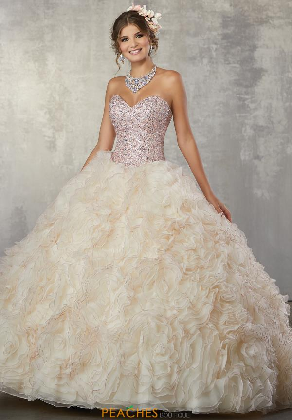 Vizcaya Quinceanera Strapless Beaded Dress 89173