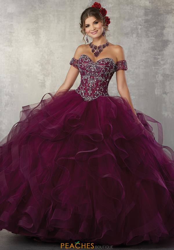 Vizcaya Quinceanera Sweetheart Neckline Beaded Gown 89176
