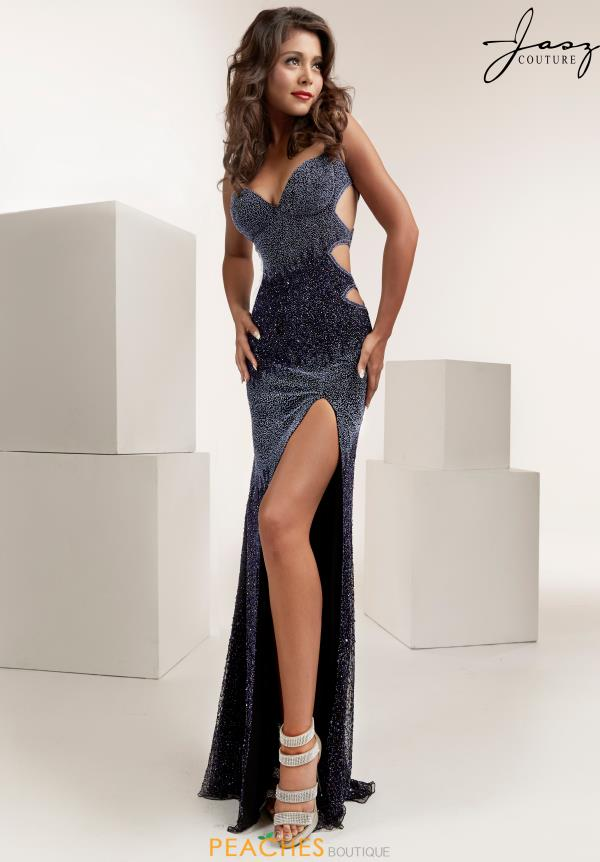 Jasz Couture Sexy Back Fitted Dress 1399