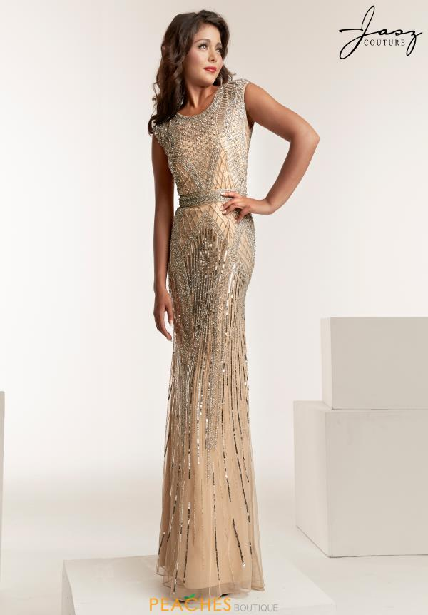 Jasz Couture Cap Sleeve Beaded Dress 1404