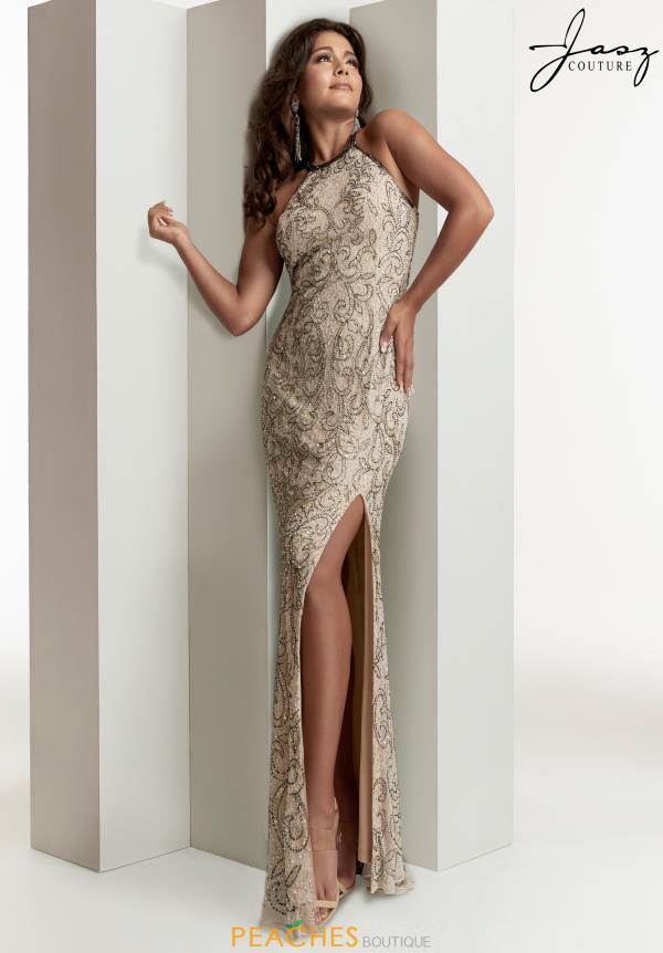 Jasz Couture Open Back Halter Dress 1417