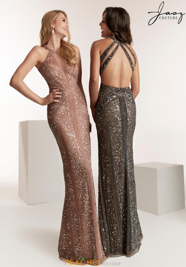 Jasz Couture Halter Open Back Dress 1429