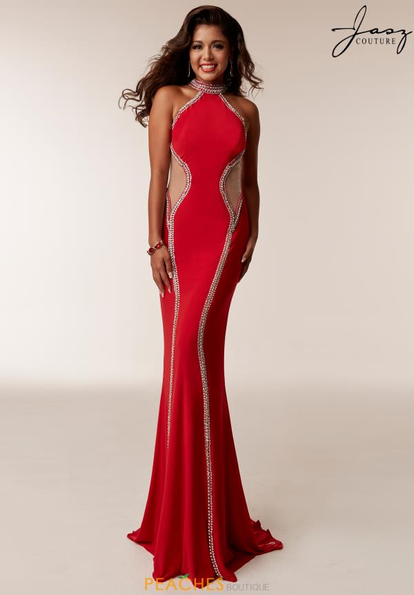Jasz Couture Jersey Beaded Dress 6208