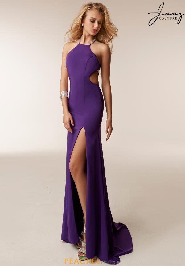Jasz Couture Open Back Jersey Dress 6210