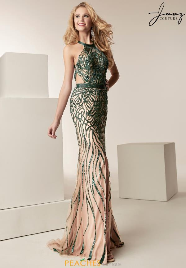 Jasz Couture Halter Fitted Dress 6223