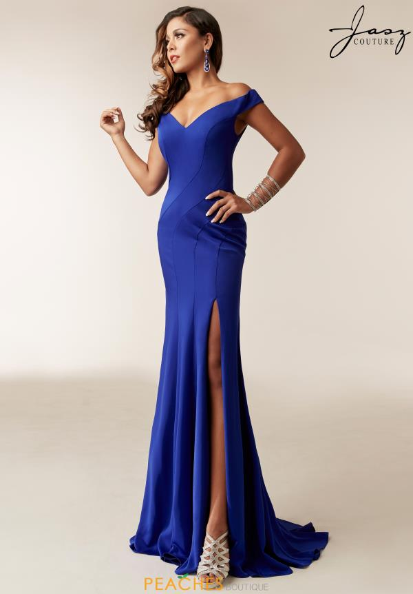 Jasz Couture Cap Sleeve Long Dress 6244