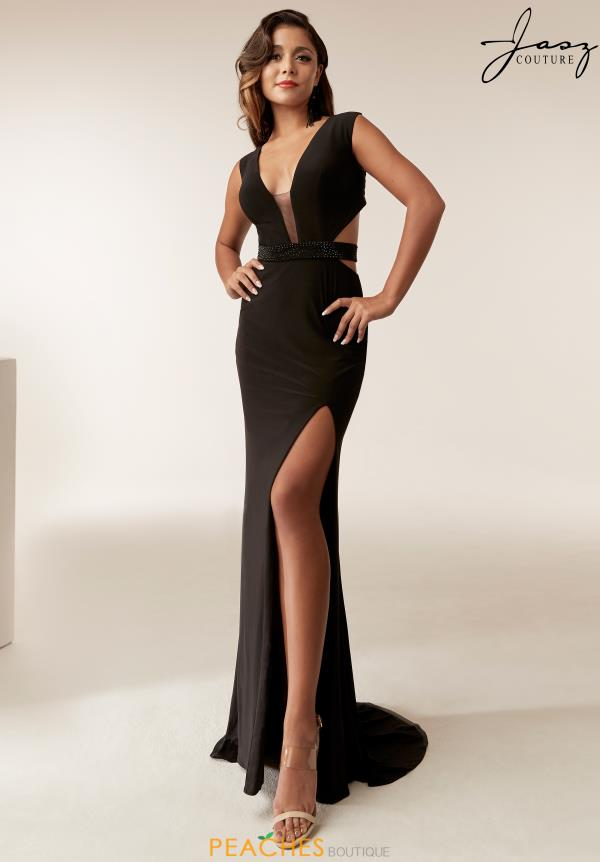 Jasz Couture Jersey Beaded Dress 6249
