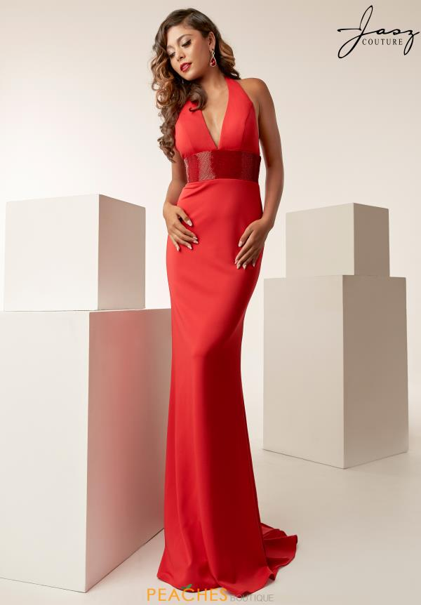 Jasz Couture V-Neck Fitted Dress 6251