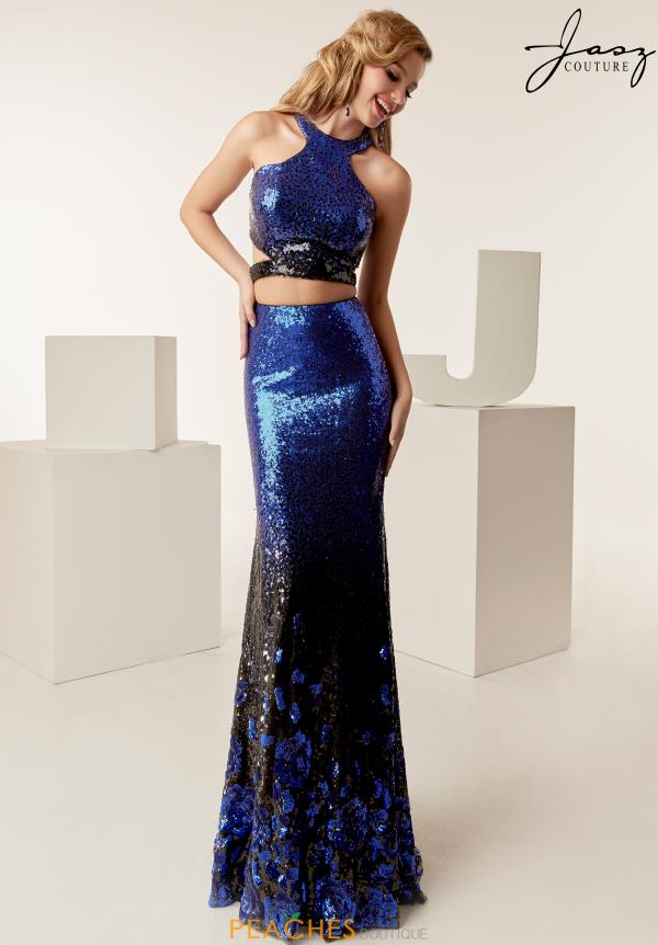 Jasz Couture Halter Sequins Dress 6268